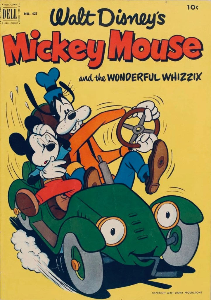 Omslag till Four Color Comic #427 (1952), Walt Disney's Mickey Mouse and the Wonderful Whizzix. ©Dell/Disney
